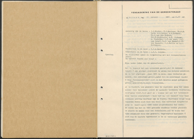 Zundert: Notulen gemeenteraad, 1934-1988 1966-01-01