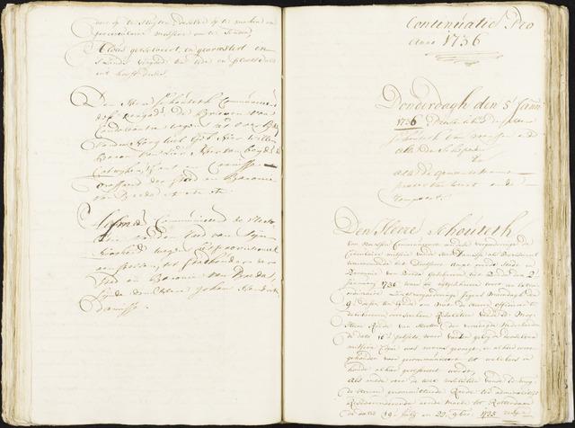 Roosendaal: Registers van resoluties, 1671-1673, 1675, 1677-1795 1736