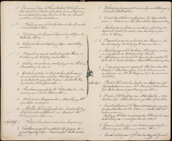 Roosendaal: Inhoudsopgaven notulen, 1849-1903 1890