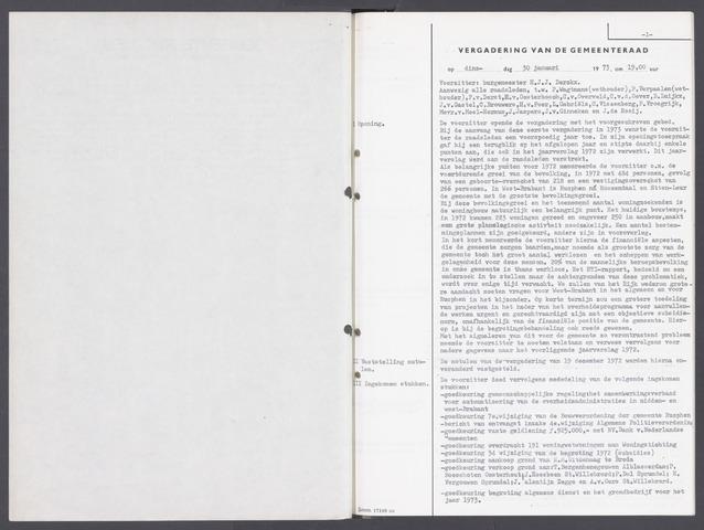 Rucphen: Notulen gemeenteraad, dec. 1949-1998 1973-01-01