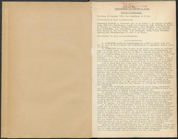 Bergen op Zoom: Notulen gemeenteraad, 1926-1996 1954-01-01