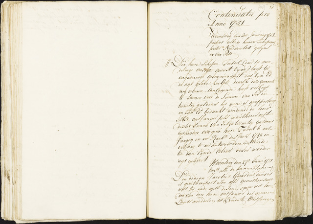 Roosendaal: Registers van resoluties, 1671-1673, 1675, 1677-1795 1751