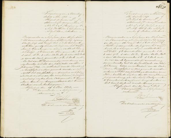 Roosendaal: Notulen van burgemeester en assessoren, 1827-1851 1851