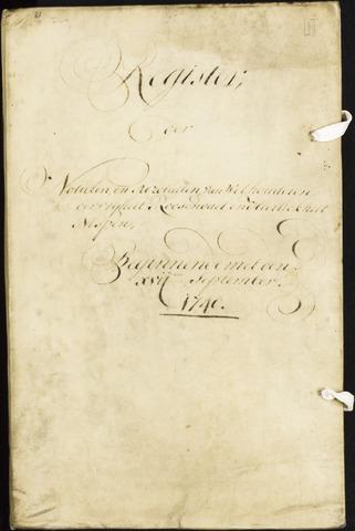 Roosendaal: Registers van resoluties, 1671-1673, 1675, 1677-1795 1740