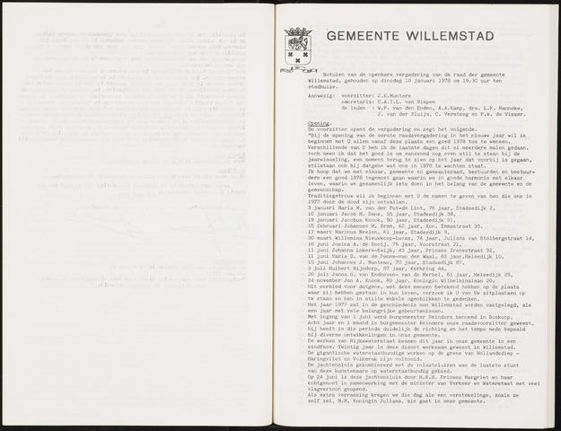 Willemstad: Notulen gemeenteraad, 1927-1995 1978-01-01