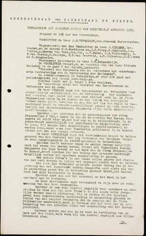 Roosendaal: Notulen gemeenteraad (besloten), 1919-1935 1925