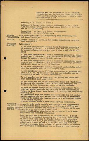 Dinteloord: Notulen gemeenteraad, 1946-1996 1950