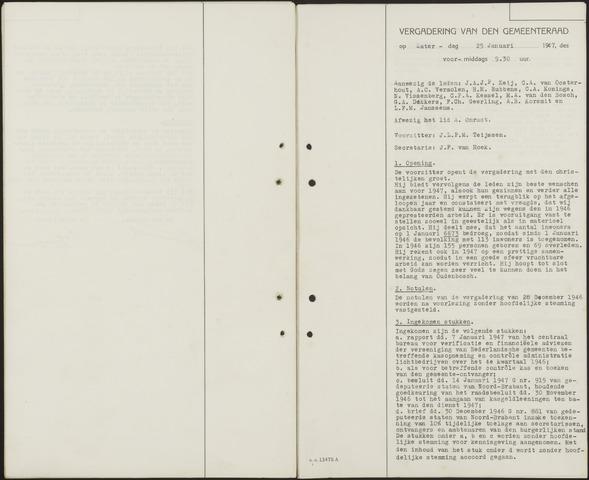 Oudenbosch: Notulen gemeenteraad, 1939-1994 1947-01-01