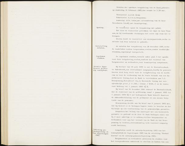 Hoeven: Notulen gemeenteraad, 1928-1996 1965-01-01