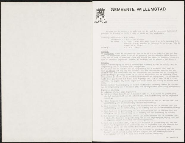 Willemstad: Notulen gemeenteraad, 1927-1995 1981-01-01