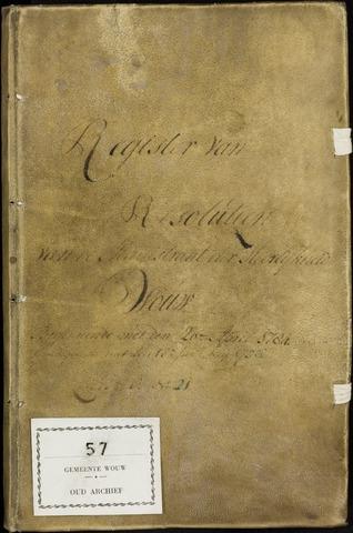 Wouw: Registers van resoluties, 1593-1811 1784