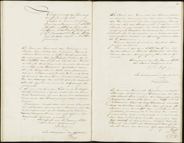 Roosendaal: Notulen, 1830-1851 1851