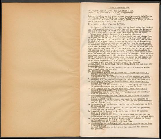 Bergen op Zoom: Notulen gemeenteraad, 1926-1996 1934-01-01