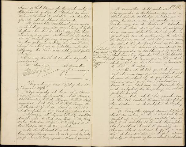 Roosendaal: Notulen gemeenteraad (besloten), 1851-1916 1896