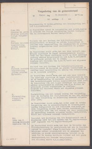 Rucphen: Notulen gemeenteraad, dec. 1949-1998 1949-12-14