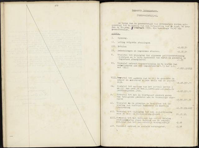 Zevenbergen: Notulen gemeenteraad, 1930-1996 1950-01-01