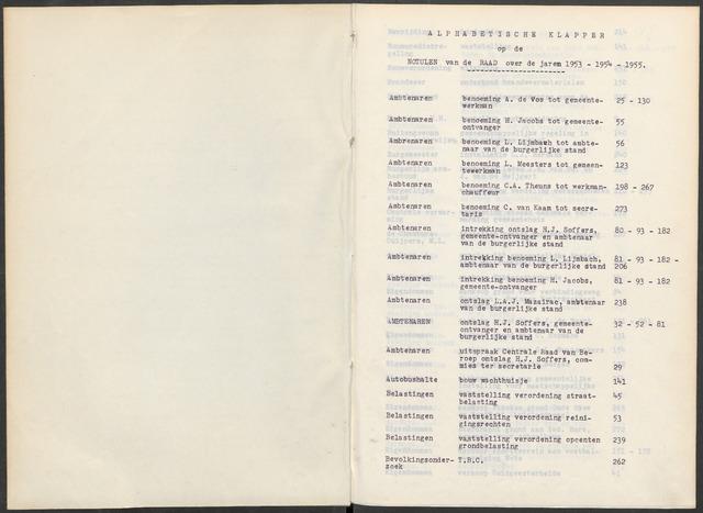 Woensdrecht: Notulen gemeenteraad, 1922-1996 1953-01-01