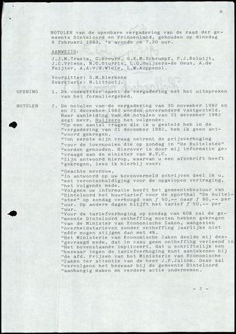 Dinteloord: Notulen gemeenteraad, 1946-1996 1983