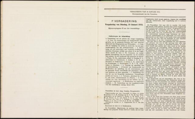 Roosendaal: Notulen gemeenteraad, 1851-1917 1915