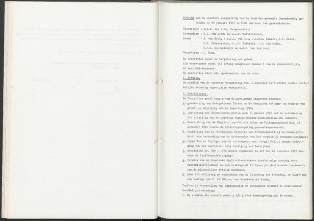 Ossendrecht: Notulen gemeenteraad, 1920-1996 1971