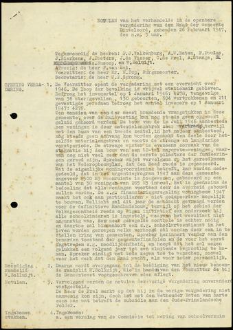 Dinteloord: Notulen gemeenteraad, 1946-1996 1947