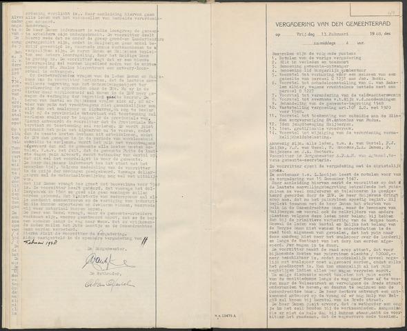 Huijbergen: Notulen gemeenteraad 1935-1996 1948-01-01