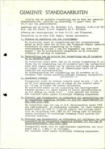 Standdaarbuiten: Notulen gemeenteraad, 1937-1996 1969-01-01