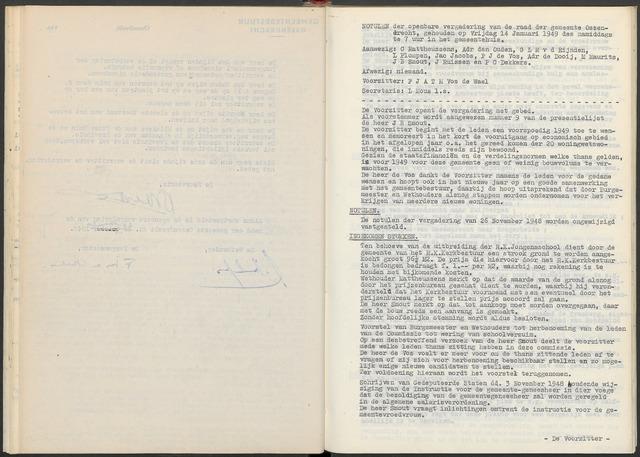 Ossendrecht: Notulen gemeenteraad, 1920-1996 1949