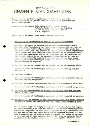 Standdaarbuiten: Notulen gemeenteraad, 1937-1996 1976-01-01