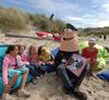 strandbibliotheek; Piet Polies leest voor en vertelt ; ( Piet Polies is een popu…