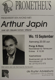 avond met Arthur Japin in Porgy & Bess gepresenteerd door Prometheus