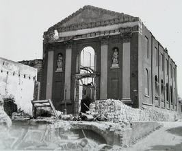 verwoesting Rooms-Katholieke kerk na bombardement van 17 mei 1940, parochiekerk …