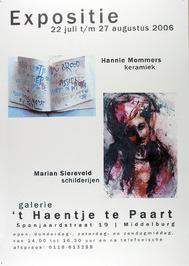 expositie van Hannie Mommers en Marian Siereveld in galerie 't Haentje te Paart