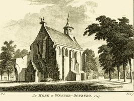 Dorpskerk, in 1832 afgebroken.