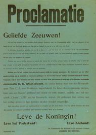 proclamatie ondertekend door Quarles van Ufford