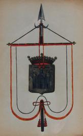 vaandel met wapen van Oostburg