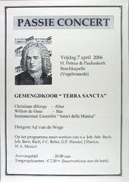 passie concert in de H. Petrus & Pauluskerk m.m.v. o.a. gemengd koor Terra Sanct…