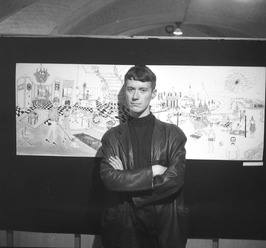 expositie van kunstenaar Dominicus in de Raadskelder