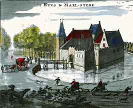 Slot Maelstede, uit de Cronyck van Smallegange.