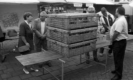 duiven te koop op de eerste jaarmarkt