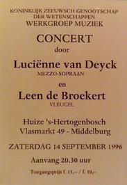 concert in Huize 's Hertogenbosch georganiseerd door de werkgroep muziek