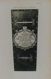 tekening van de deksel van de nieuwe kist met inscriptieplaat van Michiel Adriaa…