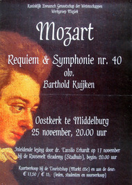 concert georganiseerd door de werkgroep muziek in de Oostkerk