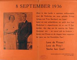 oproep tot tooien met Oranje  ter ere van verloving Koninklijk Paar