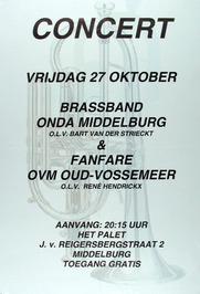 concert m.m.v. breassband Onda Middelburg en fanfare OVM Oud-Vossemeer