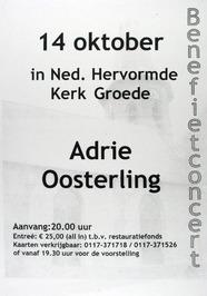 benefietconcert door Adrie Oosterling in de N.H. kerk