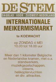 internationale markt met standwerkers, muziekgezelschappen en andere attracties