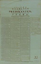 naamlijst van predikanten
