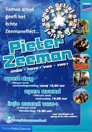 open dag en avond Pieter Zeeman