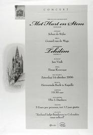 concert door o.a. chr. gemengd koor Met Harte en Stem en mannenkoor Zehilin in d…